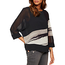 Buy Mint Velvet Pixie Print Batwing T-Shirt, Multi Online at johnlewis.com