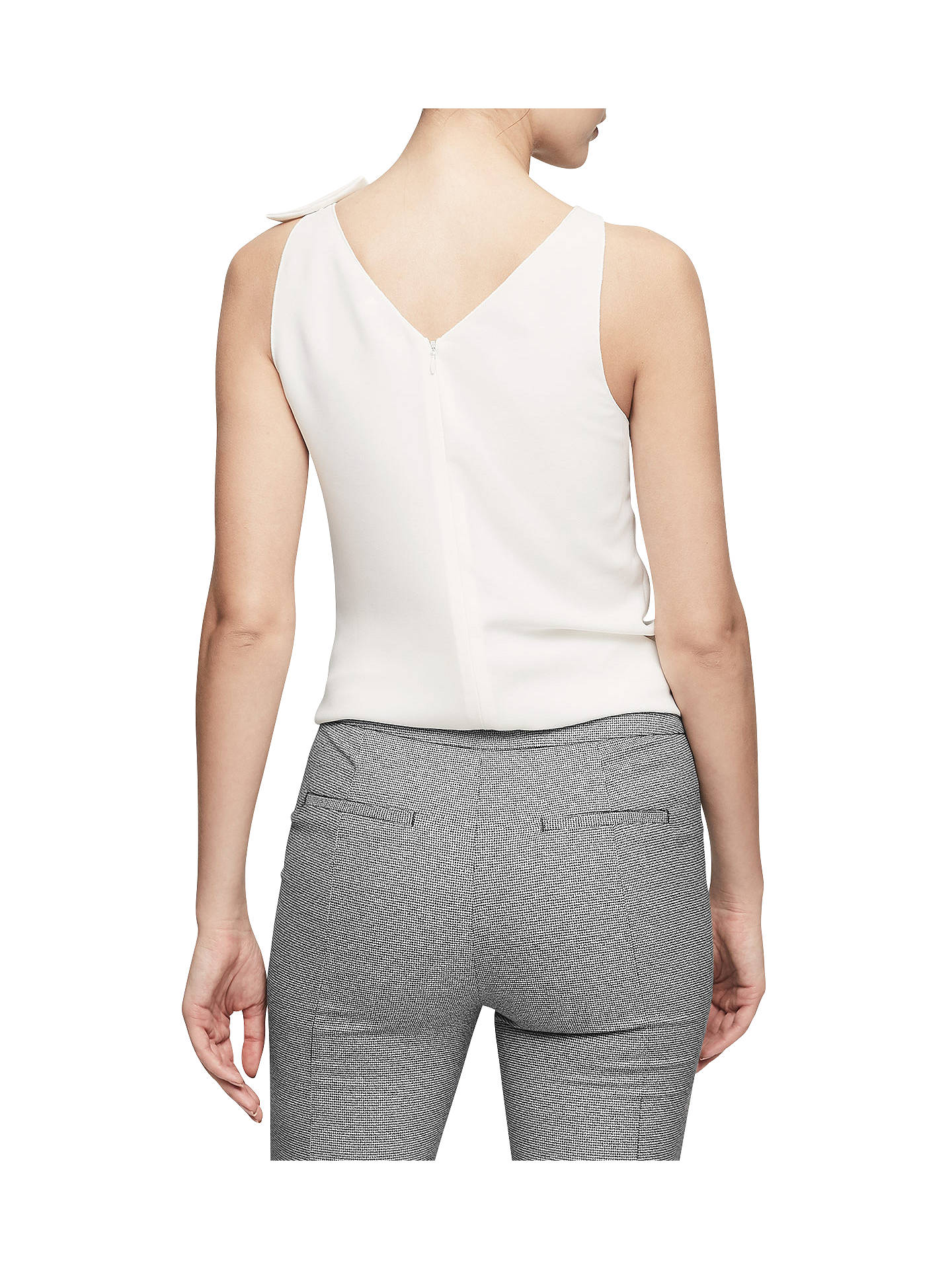 BuyReiss Olga Asymmetrical Neck Top, Off White, 6 Online at johnlewis.com