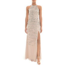 Buy Adrianna Papell Sequin Halterneck Dress, Silver/Nude Online at johnlewis.com