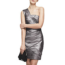 Buy Reiss Uma One Shoulder Bodycon Dress, Metallic Online at johnlewis.com