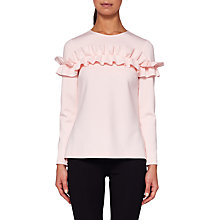 Buy Ted Baker Aiya Ruffle Top, Pale Pink Online at johnlewis.com