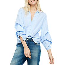 Buy Mint Velvet Ruffle Sleeve Shirt Online at johnlewis.com