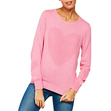 Buy Mint Velvet Ottoman Heart Crew Neck Jumper, Peony Online at johnlewis.com
