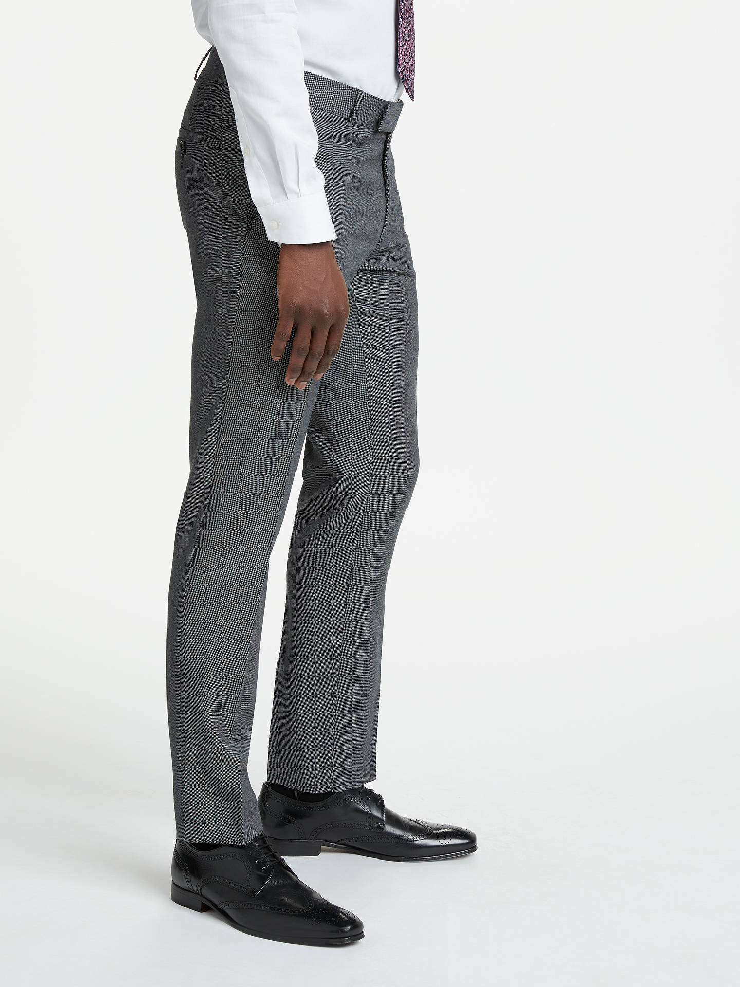 Buy Richard James Mayfair Birdseye Slim Suit Trousers, Charcoal, 32S Online at johnlewis.com