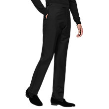 Buy Reiss Knightsbridge Wool Mohair Slim Fit Dress Trousers, Black Online at johnlewis.com