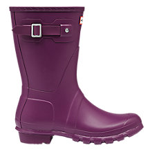 Buy Hunter Women's Original Short Matte Wellington Boots, Violet Online at johnlewis.com