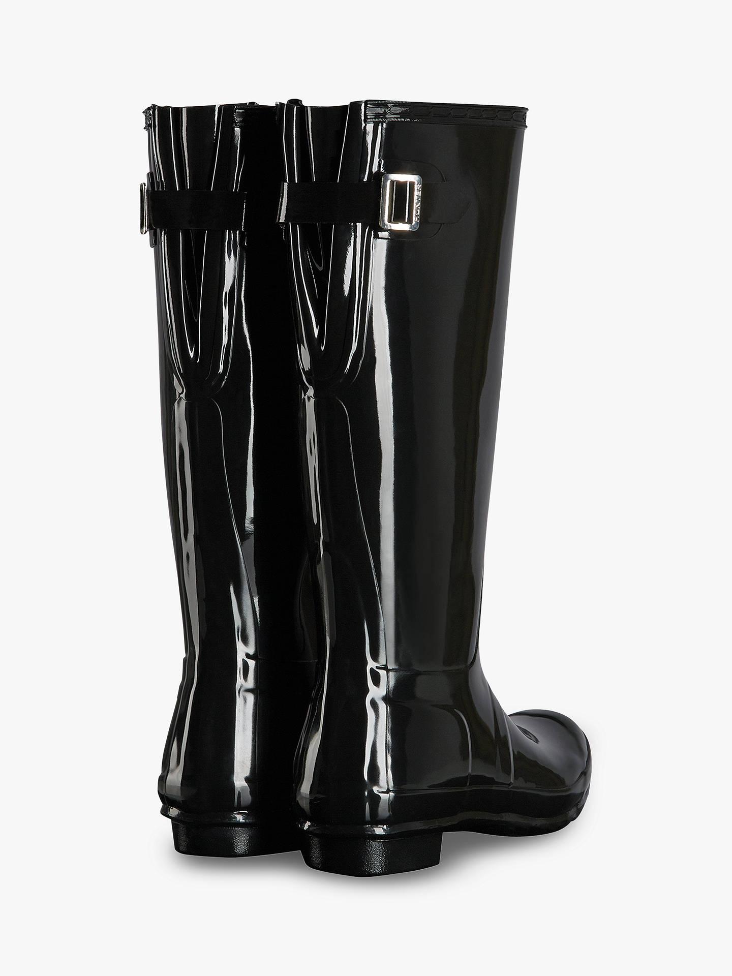 c88f2903cab Hunter Women's Original Waterproof Tall Adjustable Gloss Wellington ...