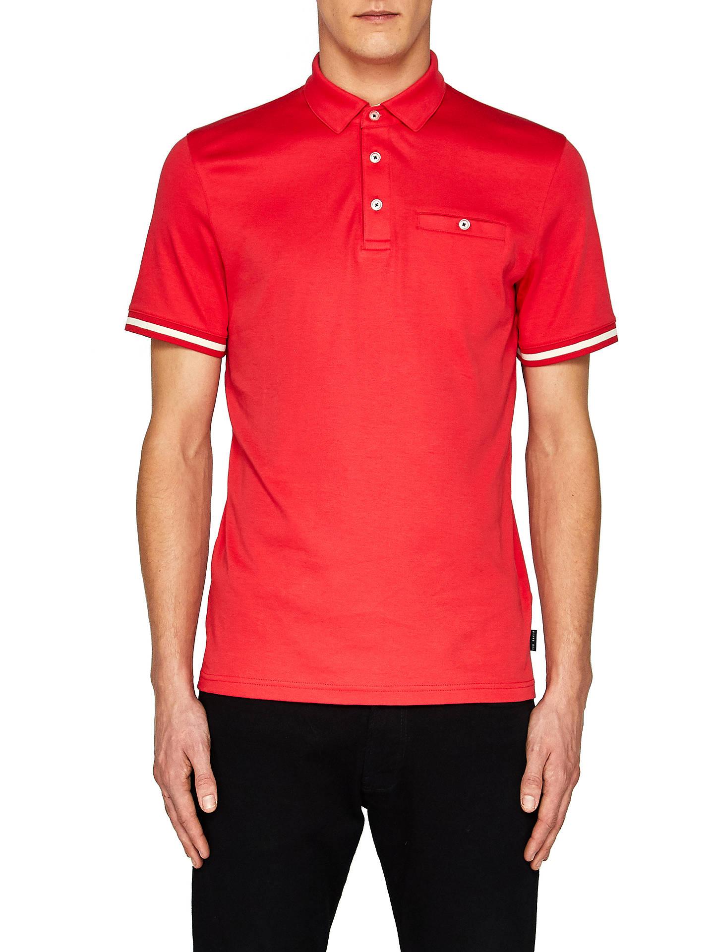 437b808611dc Ted Baker Puggle Cuff Stripe Polo Shirt at John Lewis   Partners