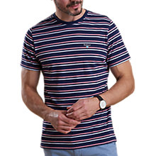 Buy Barbour Lifestyle Duxford Stripe T-Shirt, Navy Online at johnlewis.com