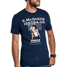 Buy Barbour International Military Flag Graphic Print T-Shirt Online at johnlewis.com