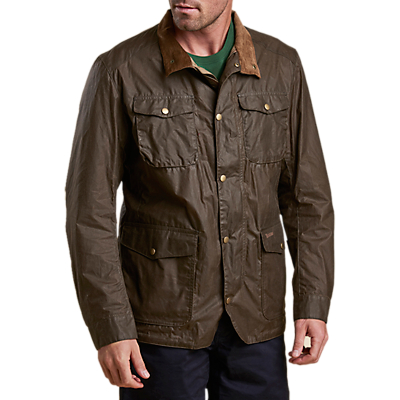 Product photo of Barbour ogston waxed jacket dark sand