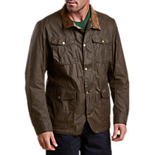 Buy Barbour Ogston Waxed Jacket, Dark Sand Online at johnlewis.com
