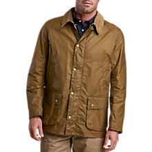 Buy Barbour Lifestyle Waxed Cotton Field Jacket, Sand Online at johnlewis.com