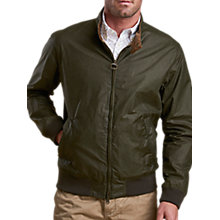 Buy Barbour Royston Waxed Cotton Harrington Jacket, Archive Olive Online at johnlewis.com