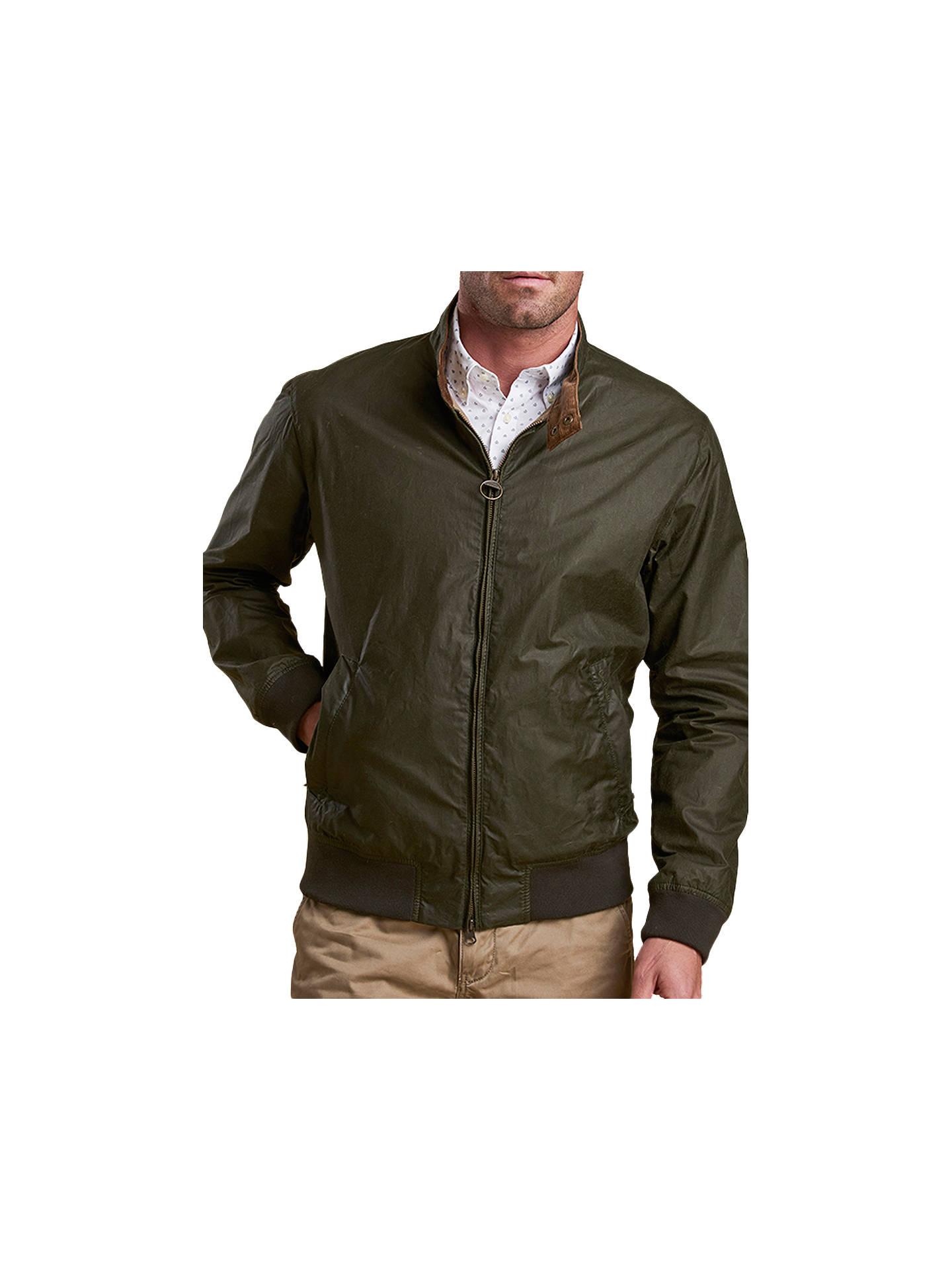 Barbour Royston Waxed Cotton Lightweight Harrington Jacket
