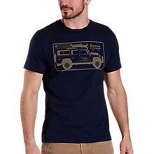 Buy Barbour Land Rover Defender Graphic Print T-Shirt, Navy Online at johnlewis.com