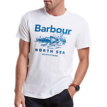 Buy Barbour Rudd Graphic Print T-Shirt, White Online at johnlewis.com