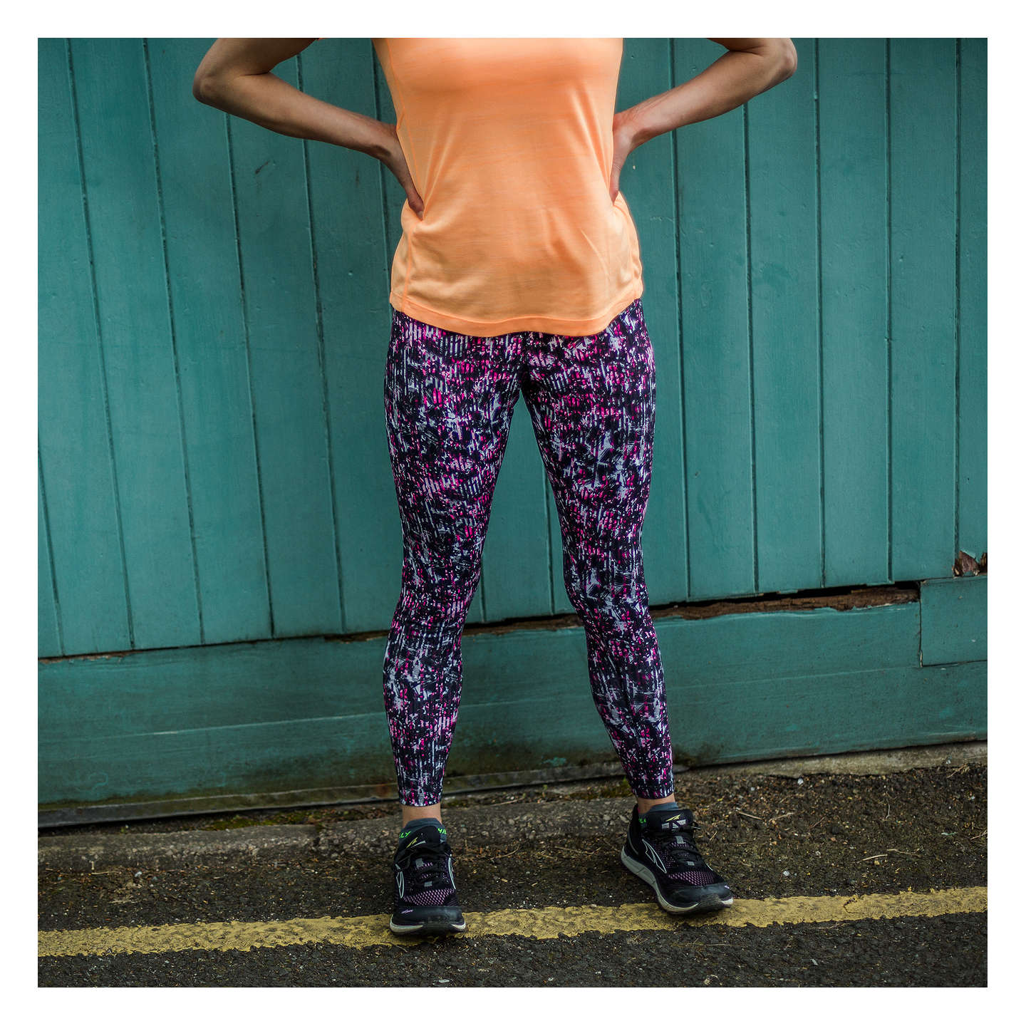 BuyRonhill Momentum Running Tights, Razzmatazz Botanical, 8 Online at johnlewis.com