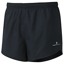 Buy Ronhill Everyday Split Running Shorts, Black Online at johnlewis.com