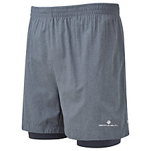 "Buy Ronhill Momentum 5"" Running Shorts, Grey Marl/Charcoal Online at johnlewis.com"