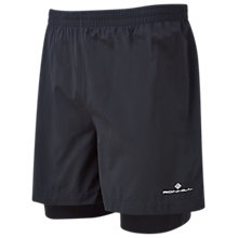 "Buy Ronhill Stride 5"" Running Shorts, Black Online at johnlewis.com"