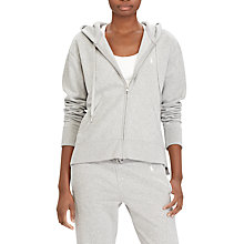 Buy Polo Ralph Lauren Lightweight Fleece Hoodie, Andover Heather Online at johnlewis.com