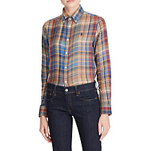 Buy Polo Ralph Lauren Georgia Shirt, Green/Multi Online at johnlewis.com