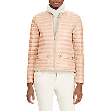 Buy Polo Ralph Lauren Lightweight Down Jacket, Pale Pink Online at johnlewis.com