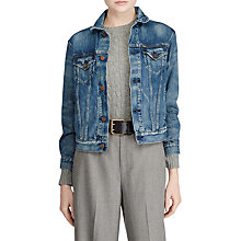 Buy Polo Ralph Lauren Denim Trucker Jacket, Navy Online at johnlewis.com