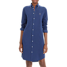 Buy Polo Ralph Lauren Long Sleeve Shirt Dress, Blue Online at johnlewis.com