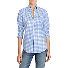 Buy Polo Ralph Lauren Kendall Slim Fit Gingham Shirt, Pink/White Online at johnlewis.com
