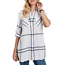 Buy Barbour Bamburgh Longline Check Shirt, White/Navy Online at johnlewis.com