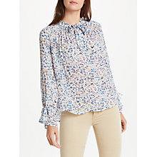 Buy Pyrus Anais Tie Blouse, Textured Animal Multi Online at johnlewis.com