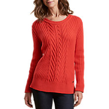 Buy Barbour Deerness Cable Knit Jumper, Orange Online at johnlewis.com