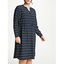 Buy JUNAROSE Fryd Long Sleeve Stripe Dress, Navy Blazer Online at johnlewis.com