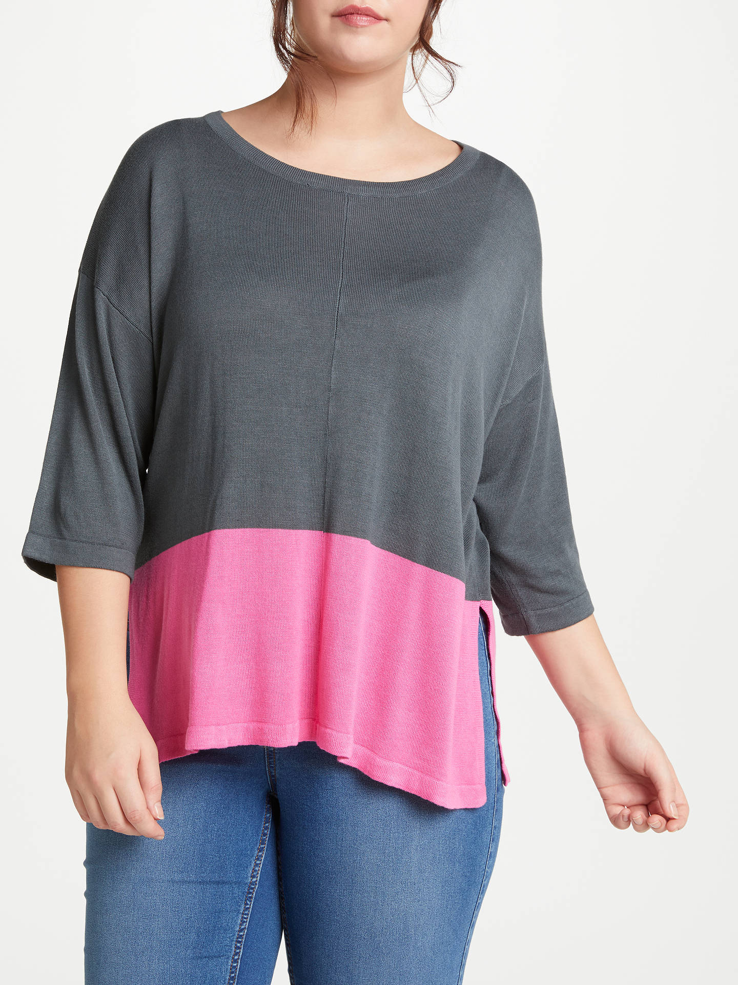 3234a62ab8 Buy JUNAROSE Newsake Pullover Knit Jumper, Charcoal, 14-16 Online at  johnlewis.