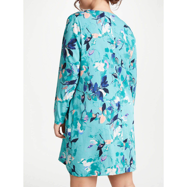 JUNAROSE Zeenan Long Sleeve Tunic Dress, Turquoise at John Lewis