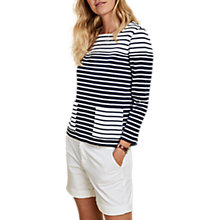 Buy Barbour Monreith Stripe Cotton Top, Navy/White Online at johnlewis.com