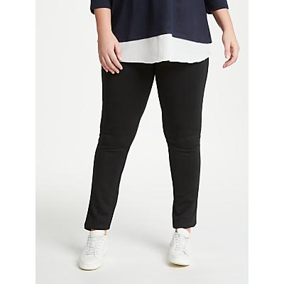 JUNAROSE Klara Slim Fit Trousers, Black