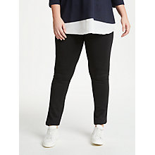 Buy JUNAROSE Klara Slim Fit Trousers, Black Online at johnlewis.com