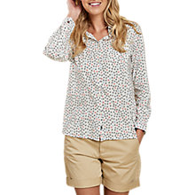 Buy Barbour Whitby Anchor Print Shirt, White Online at johnlewis.com