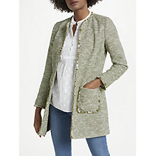Buy Helene For Denim Wardrobe Alice Jacket, Khaki Online at johnlewis.com