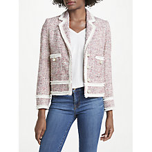 Buy Helene For Denim Wardrobe Ava Boxy Jacket, Red/Blue Online at johnlewis.com