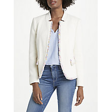 Buy Helene For Denim Wardrobe Amelia Jacket, Ivory Online at johnlewis.com