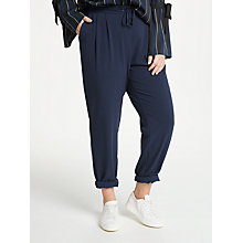 Buy JUNAROSE Karolina Woven Trousers, Navy Online at johnlewis.com