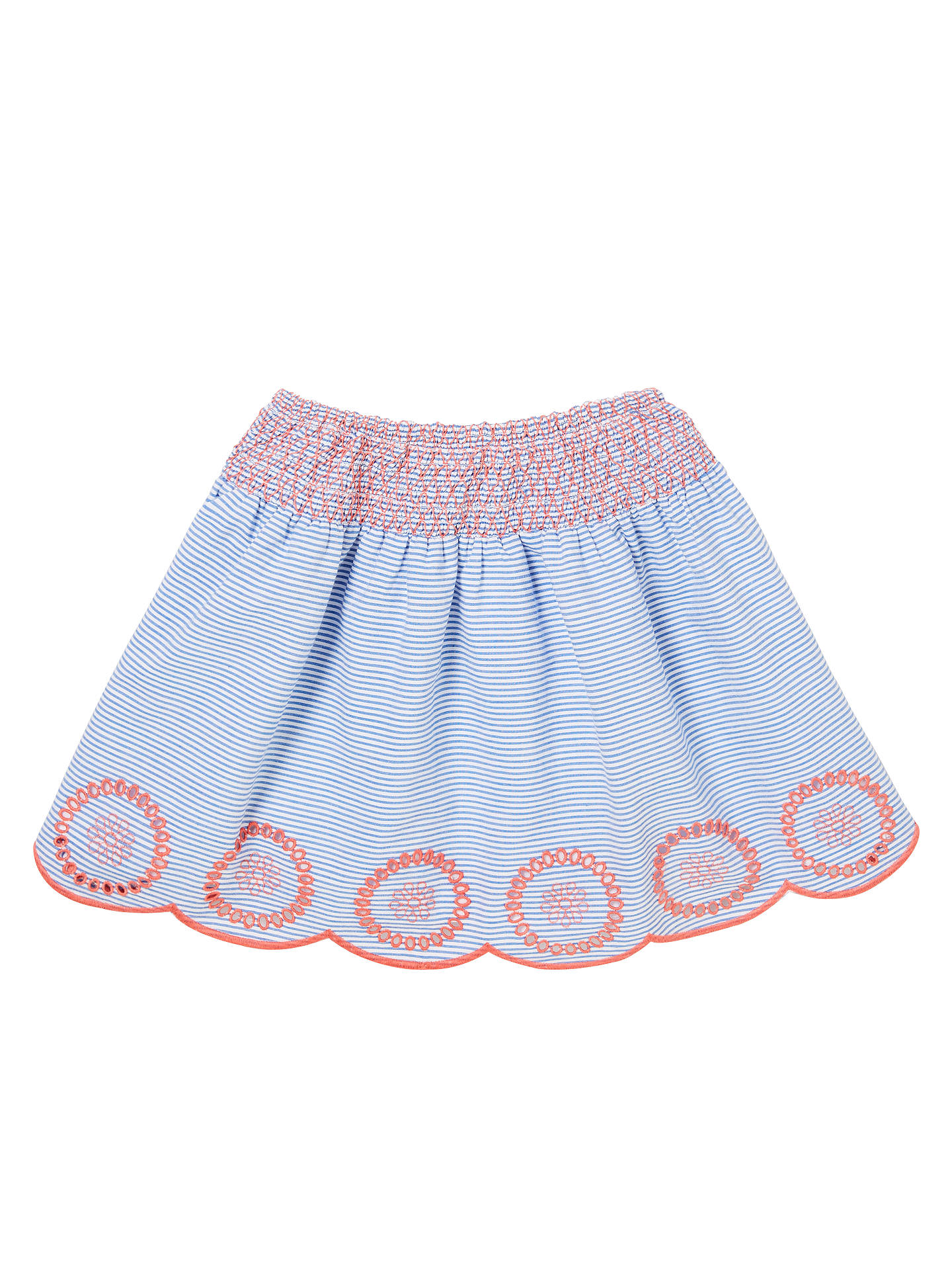 BuyJohn Lewis & Partners Girls' Ticking Stripe Skirt, Blue, 2 years Online at johnlewis.com