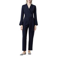 Buy Finery Godman Wrap Jumpsuit, Midnight Blue Online at johnlewis.com