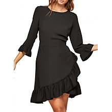 Buy Miss Selfridge Frill Hem Dress, Black Online at johnlewis.com