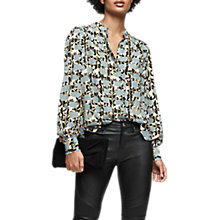 Buy Reiss Karina Long Sleeve Printed Blouse, Multi Online at johnlewis.com