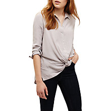 Buy Phase Eight Ana Longline Twist Blouse, Silver Online at johnlewis.com